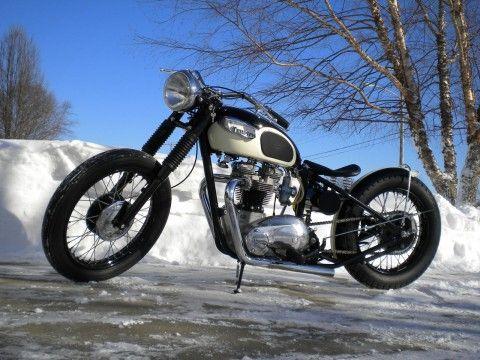 1968 Triumph Bonneville Bobber – Choppahead Kustom for sale