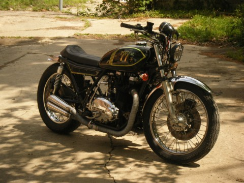 1977 Kawasaki KZ750 twin Cafe Racer Motorcycle for sale