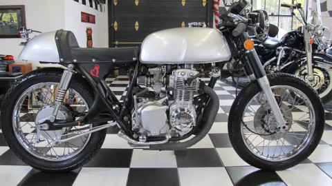 1973 Honda Cb350 Four Cafe Racer , Fresh Frame off Restoration , Silver Bullet for sale