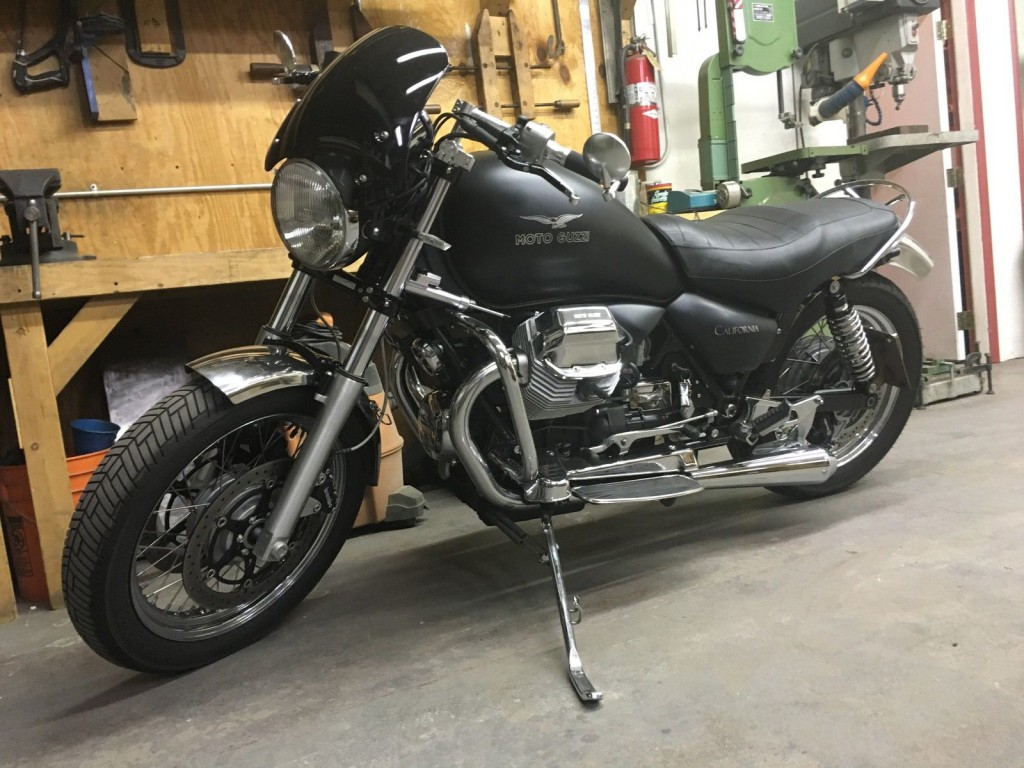 2011 moto guzzi 1100 california black eagle custom cafe racer for sale. Black Bedroom Furniture Sets. Home Design Ideas