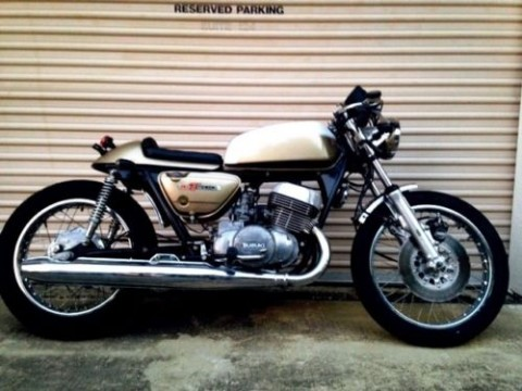 1975 Suzuki GT500 Gold Custom Vintage Cafe Racer for sale