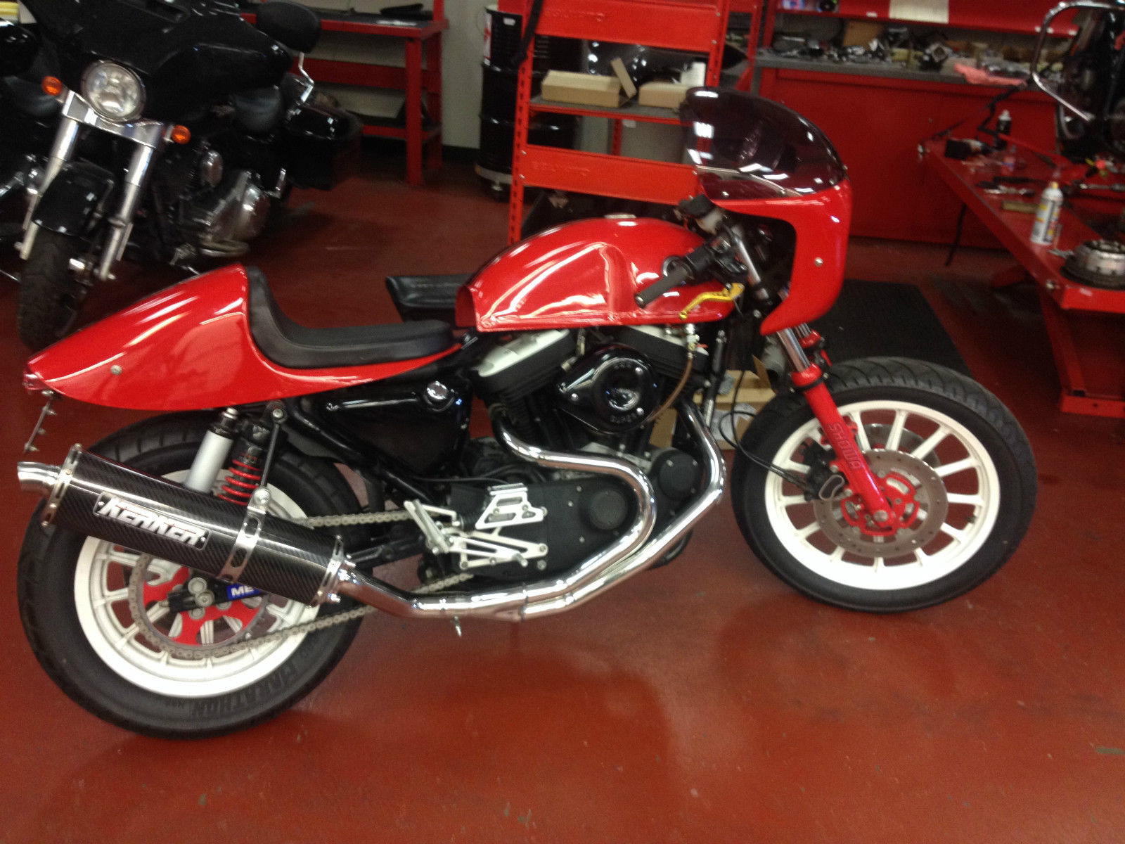 Harley Davidson Sportster Th Anniversary Custom Cafe Racer For Sale on Sportster Ignition Coil Relocation