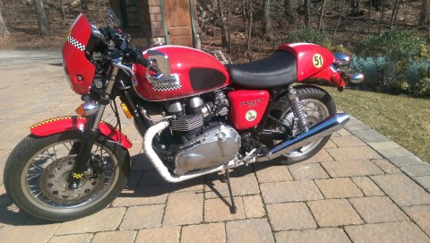 2010 Triumph Bonneville Thruxton 900 Cafe Racer for sale
