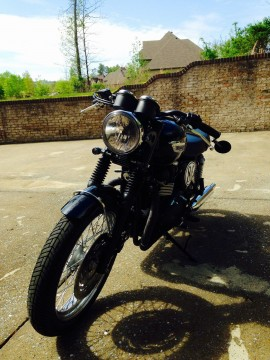 2012 Triumph Bonneville T100 Black Cafe Racer for sale