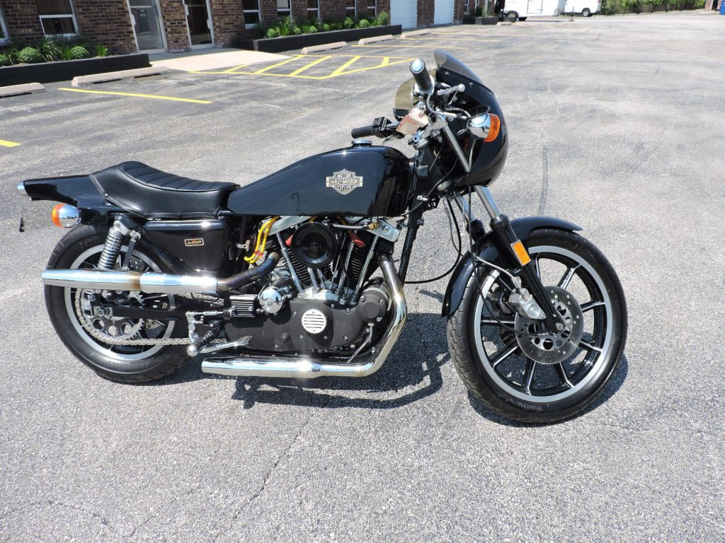 Ready to roll 1977 Harley Davidson Sportster XLCR Cafe Racer