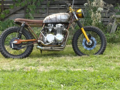 """The Walking Dead"" 1975 Honda CB550 Cafe Racer for sale"