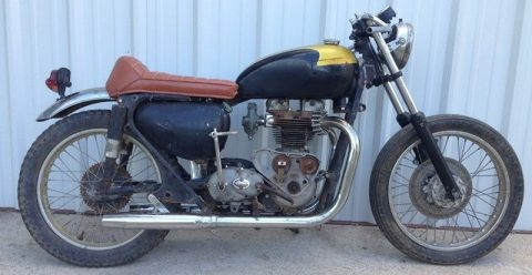 "1962 ""Triless"" Triumph/Matchless Cafe Racer Project Vintage Classic for sale"